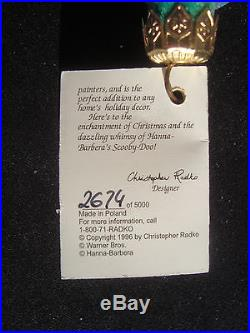 WB Christmas Ornament Christopher Radko Signed Scooby Doo 2674/5000 with Box
