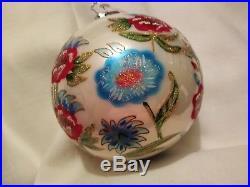 Wow! Christopher Radko 20th Anniversary Blown Glass Ball Christmas Ornament 4.5