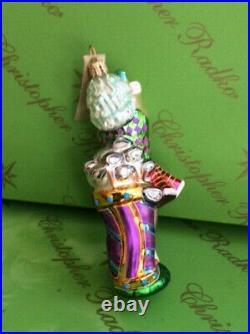 X4 PROTOTYPE CHRISTOPHER RADKO LADY GOLFER 5x3 GLASS ORNAMENT