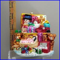 XL LE #2/75 CHRISTOPHER RADKO Marshall Fields CHRISTMAS ORNAMENT VTG TOYCHEST 8